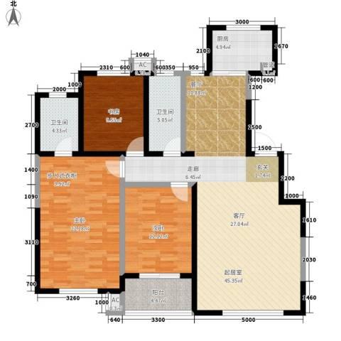 教育公寓3室0厅2卫1厨156.00㎡户型图