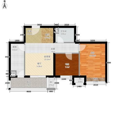 五建雅苑小区2室0厅1卫1厨88.00㎡户型图