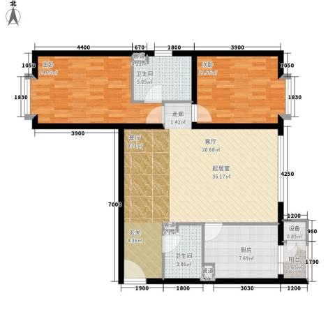 新城区法院家属院2室0厅2卫1厨114.00㎡户型图