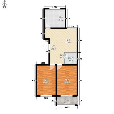 龙悦湾・玉花苑2室0厅1卫1厨129.00㎡户型图
