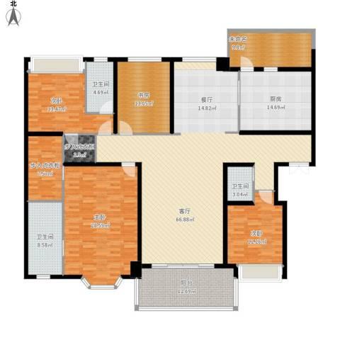 天正滨江4室1厅3卫1厨277.00㎡户型图