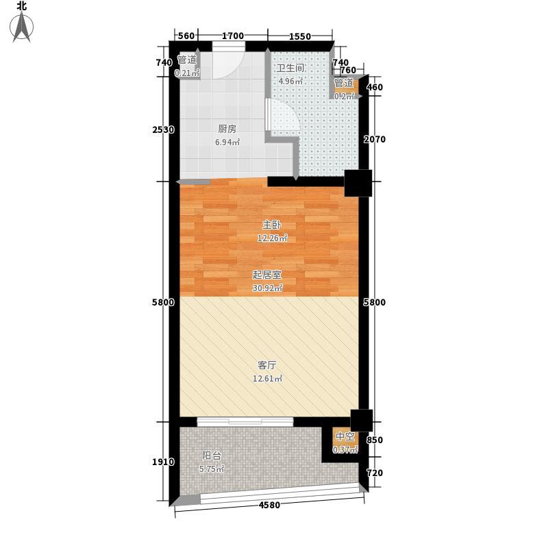 莲洋大观50.00㎡公寓标准层A户型