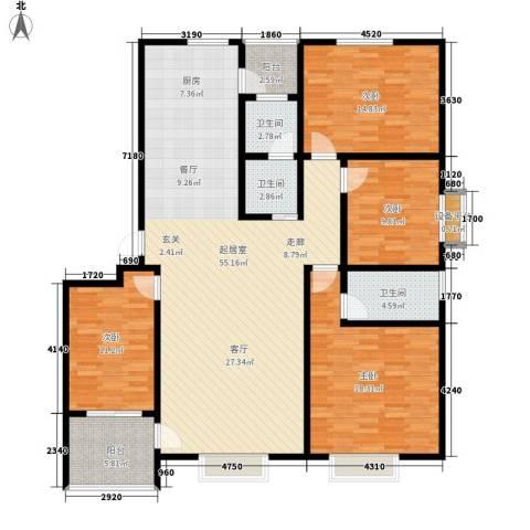 智恒・爱丁堡4室0厅3卫0厨180.00㎡户型图
