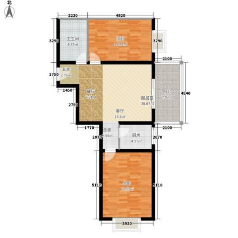 明德庭院2室0厅1卫1厨112.00㎡户型图