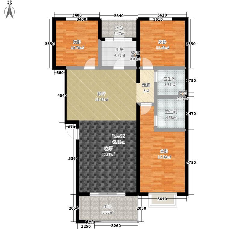 东焦民巷125.00㎡1号楼-I面积12500m户型