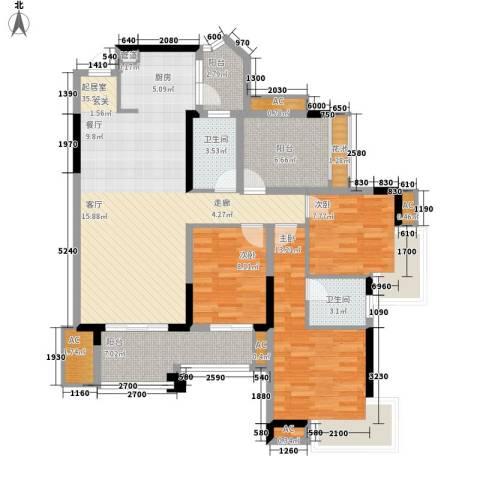 石油佳苑3室0厅2卫0厨109.00㎡户型图