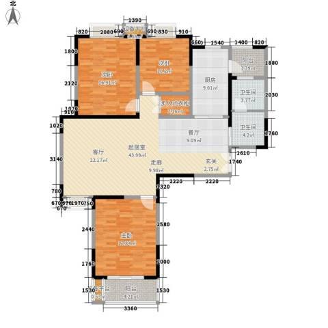 铜冠花园3室0厅2卫1厨163.00㎡户型图