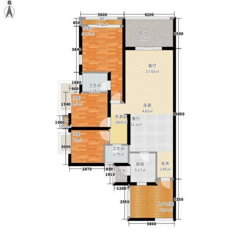 鲁能星城三街区3室0厅2卫1厨127.00㎡户型图