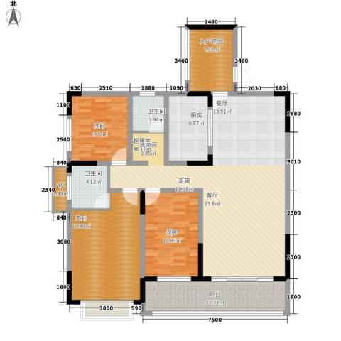 嘉盛和园3室0厅2卫1厨141.00㎡户型图