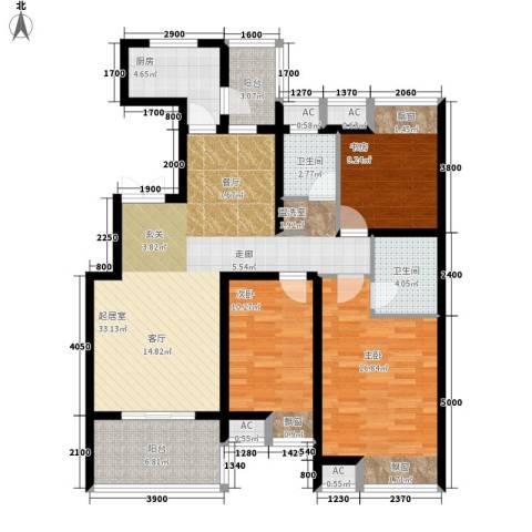 教育公寓3室0厅2卫1厨136.00㎡户型图