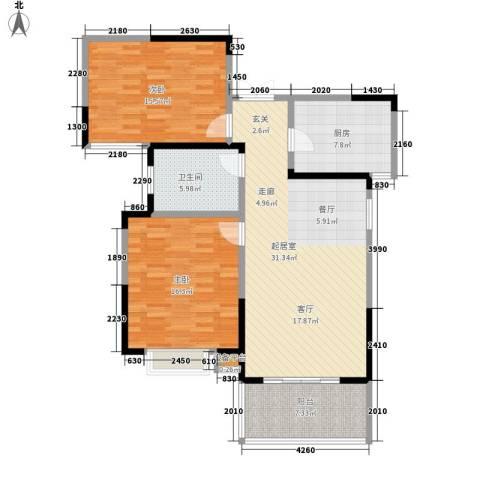 铜冠花园2室0厅1卫1厨118.00㎡户型图
