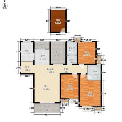中央商务区4室0厅2卫1厨178.00㎡户型图