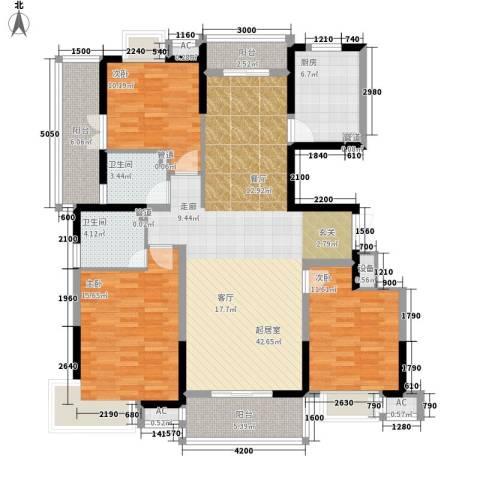 明德庭院3室0厅2卫1厨160.00㎡户型图