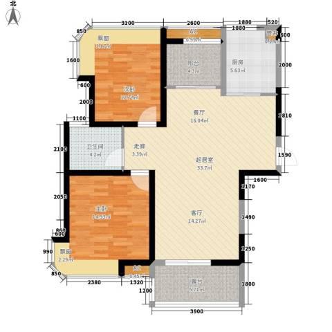 淮安明发商业广场2室0厅1卫1厨118.00㎡户型图