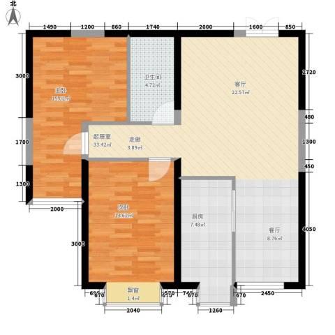 万福大厦2室0厅1卫1厨83.96㎡户型图