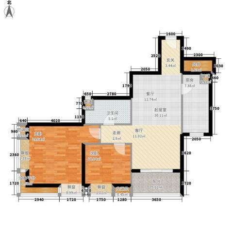 璟泰大厦2室0厅1卫1厨95.00㎡户型图
