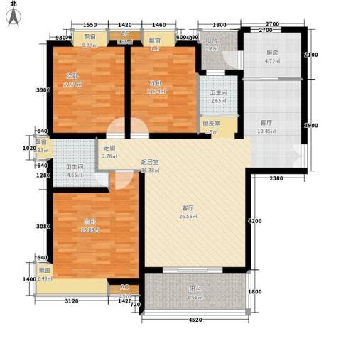雅荷度假山庄3室0厅2卫1厨141.00㎡户型图
