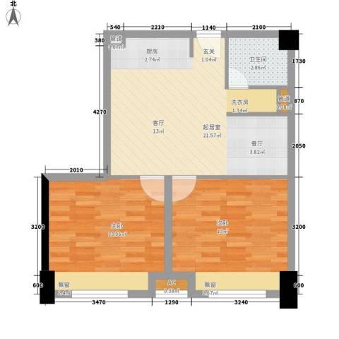 鑫宇住宅小区2室0厅1卫0厨73.00㎡户型图