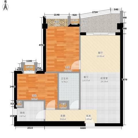 璟泰大厦2室0厅1卫1厨75.00㎡户型图