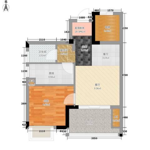 招商假日3651室0厅1卫1厨55.00㎡户型图