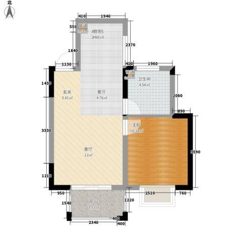 嘉业・阳光城1室0厅1卫0厨64.00㎡户型图