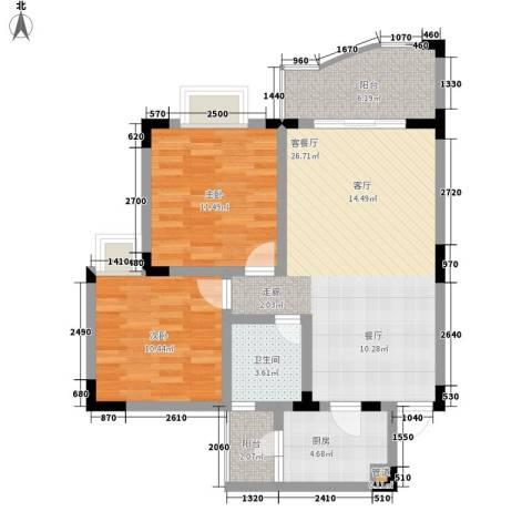 富悦新城2室1厅1卫1厨94.00㎡户型图
