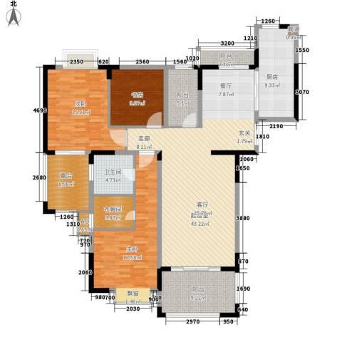 金色地中海3室0厅1卫1厨146.00㎡户型图