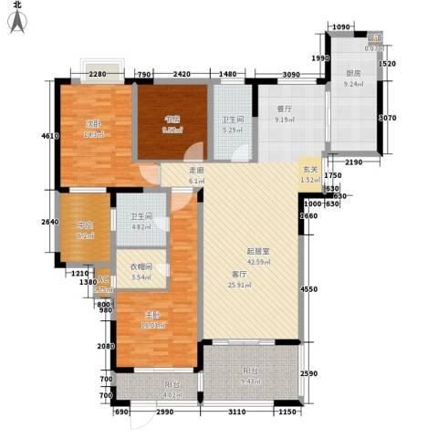 金色地中海3室0厅2卫1厨144.00㎡户型图