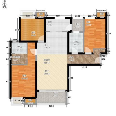 三星凤凰府3室0厅2卫1厨131.00㎡户型图