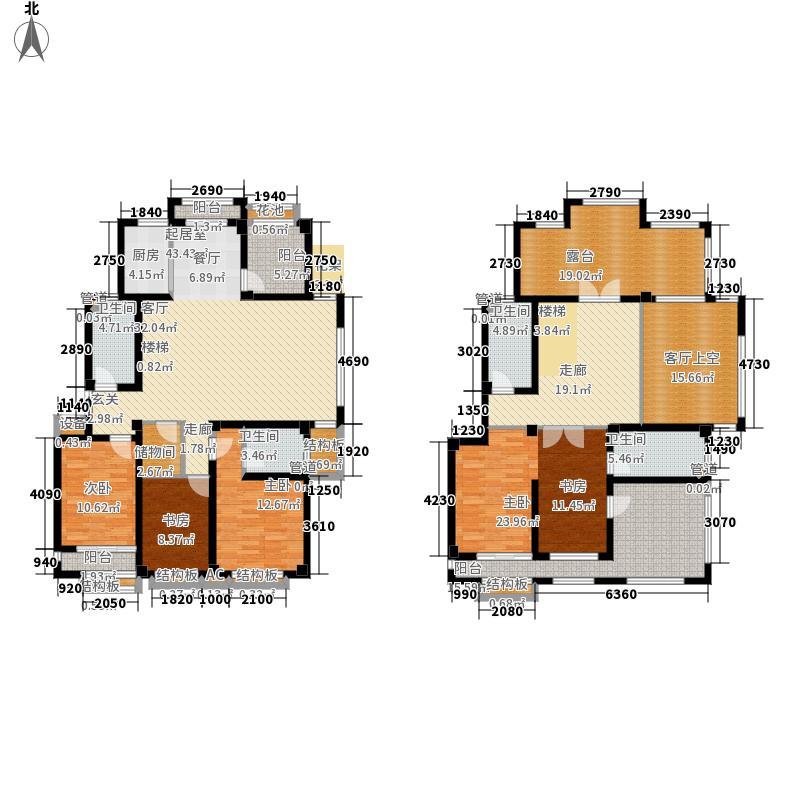 伴山壹号238.63㎡6、7号楼E1户型5室3厅