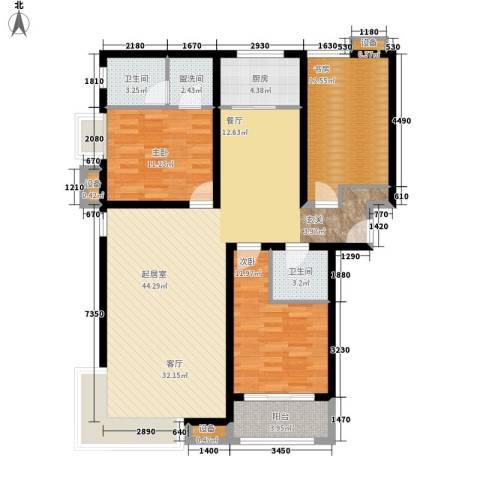 三星凤凰府3室0厅2卫1厨142.00㎡户型图