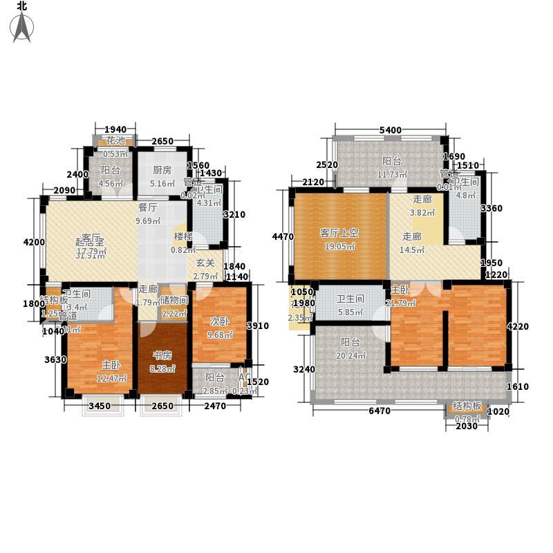 伴山壹号215.25㎡6、7号楼E3户型5室3厅