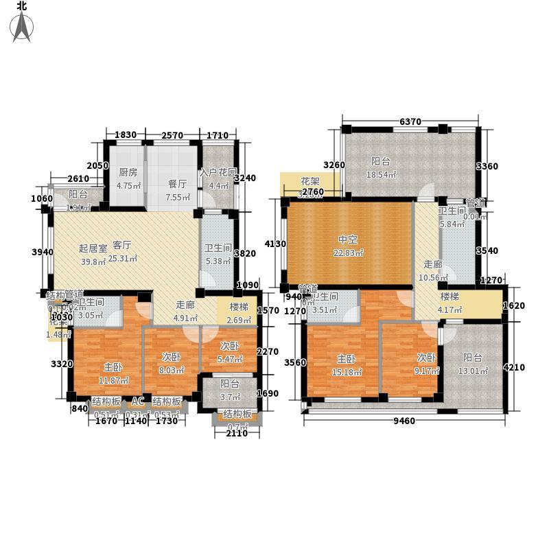 伴山壹号220.63㎡8号楼H3户型5室2厅