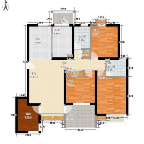 盘景苑4室0厅2卫1厨115.00㎡户型图