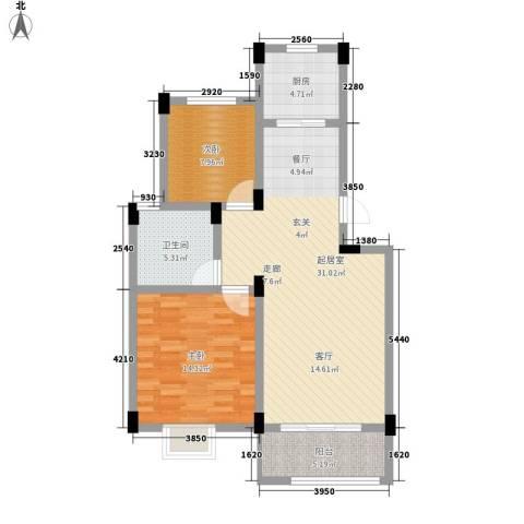 旺力・学府壹号2室0厅1卫1厨99.00㎡户型图