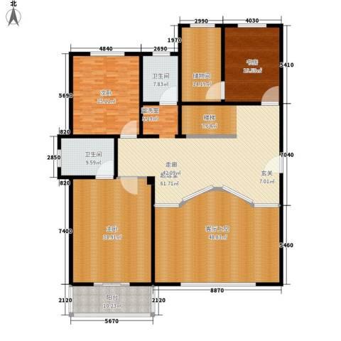 龙悦湾・玉花苑3室0厅2卫0厨325.00㎡户型图