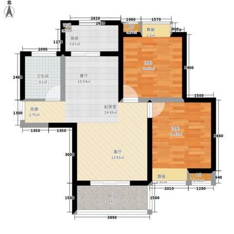 西控花园2室0厅1卫1厨88.00㎡户型图