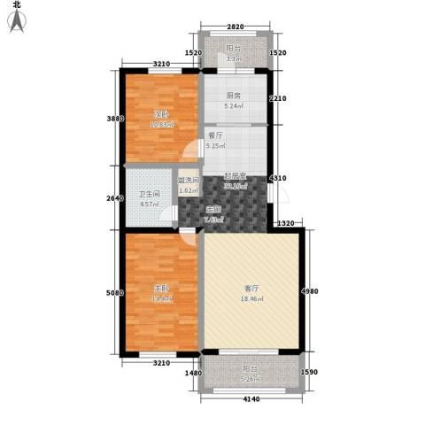 锦绣江南2室0厅1卫1厨109.00㎡户型图