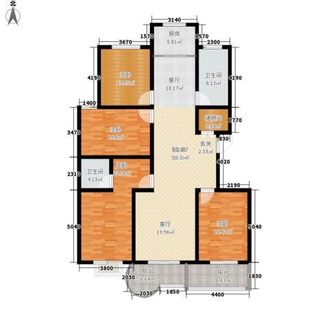 龙悦湾・玉花苑4室1厅2卫1厨220.00㎡户型图