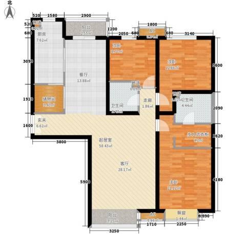 西控花园3室0厅2卫1厨165.00㎡户型图
