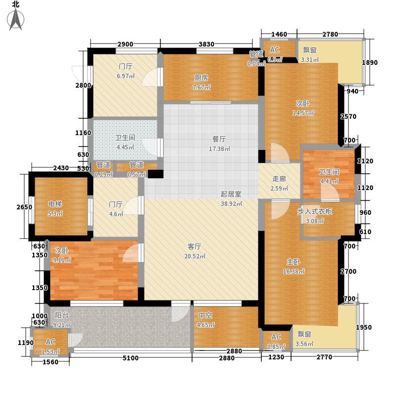 中铁人杰水岸140.00㎡小高D户型3室2厅