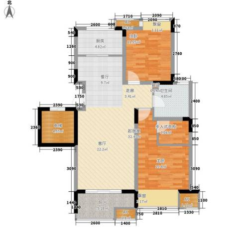 沁园小区2室0厅1卫1厨121.00㎡户型图
