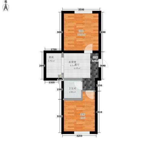 锦绣江南2室0厅1卫1厨56.00㎡户型图