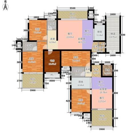 交通新苑5室0厅3卫2厨208.50㎡户型图