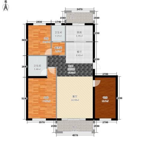 锦绣江南3室0厅2卫1厨152.00㎡户型图