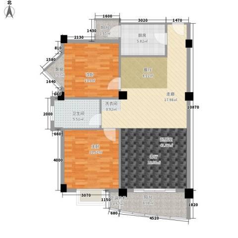 绿色晴川2室0厅1卫1厨97.00㎡户型图