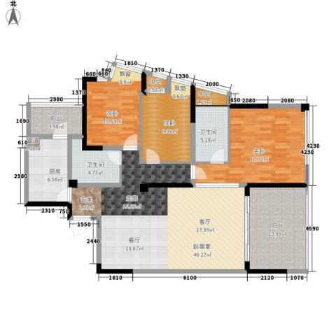 西江月3室0厅2卫1厨128.00㎡户型图