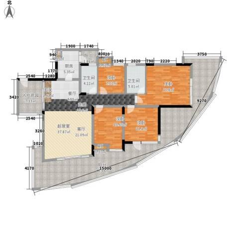 西江月4室0厅2卫1厨226.00㎡户型图