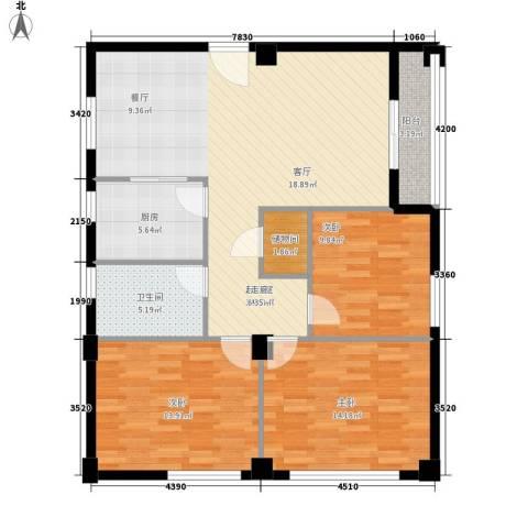 嘎洒集贸市场北区3室0厅1卫1厨98.00㎡户型图