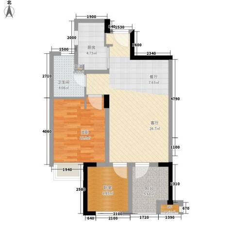 万科城新里程1室1厅1卫1厨88.00㎡户型图